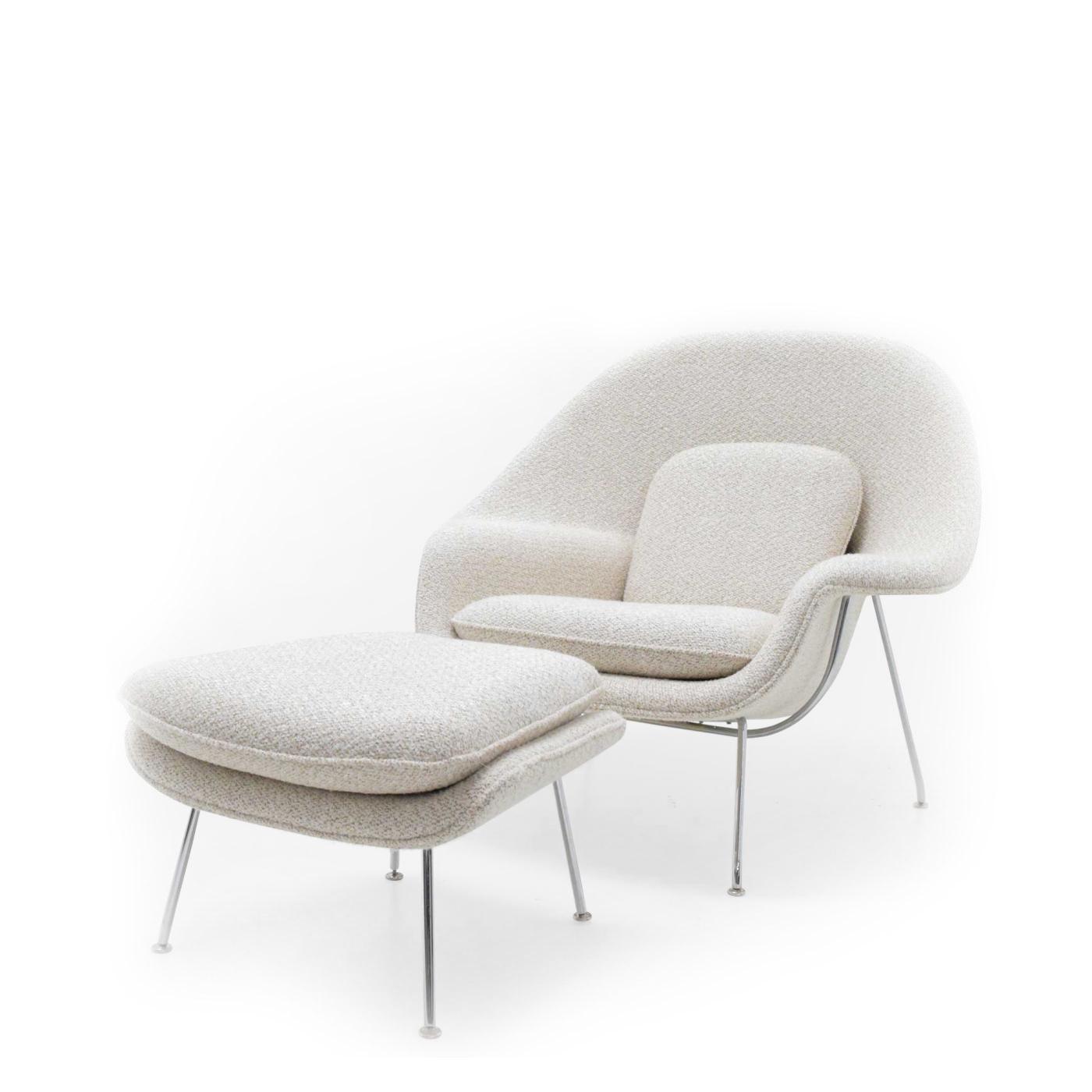 Silla poltrona Womb + Ottoman by Eero Saarinen