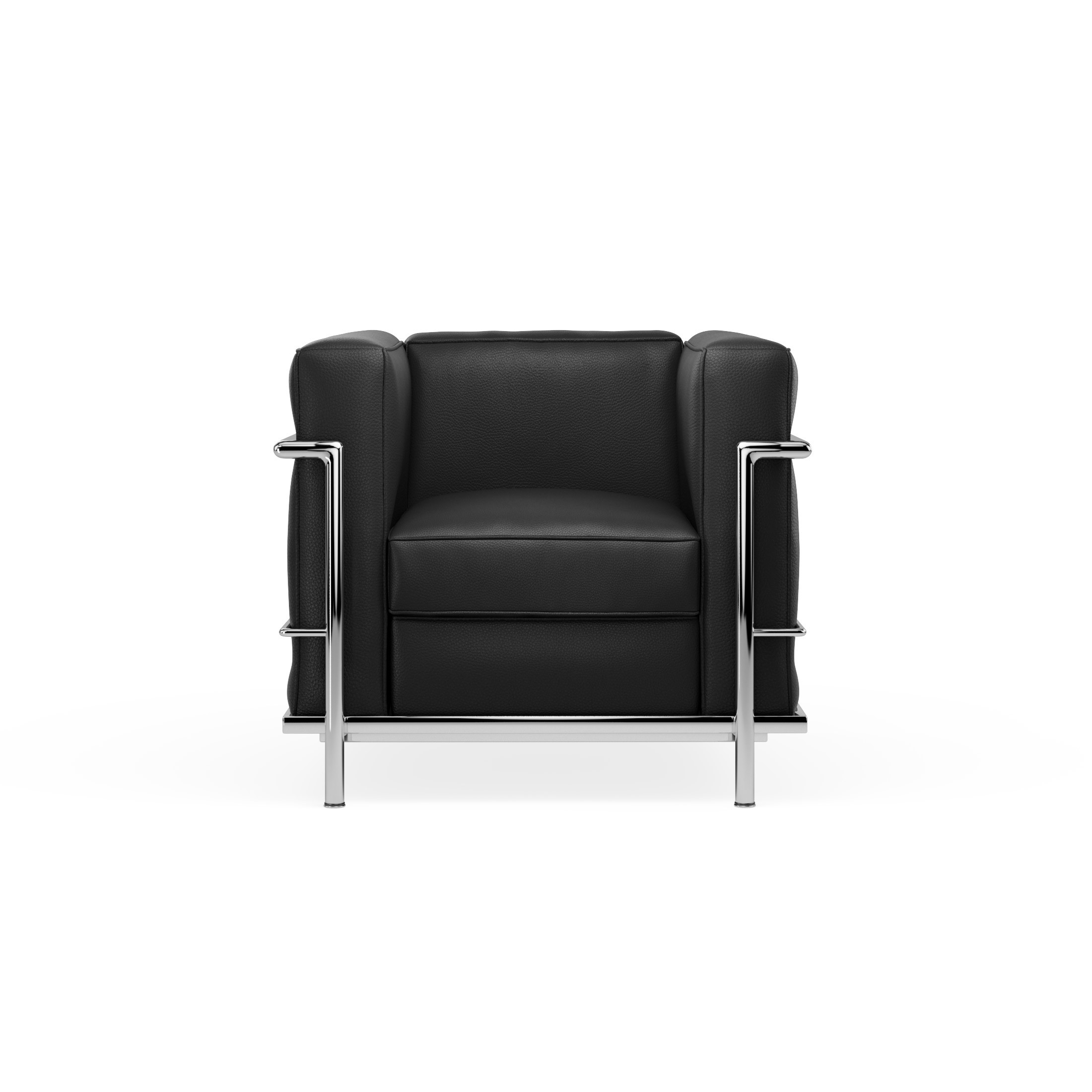 Sofá poltrona modelo LC2 Le Corbusier ecocuero Negro