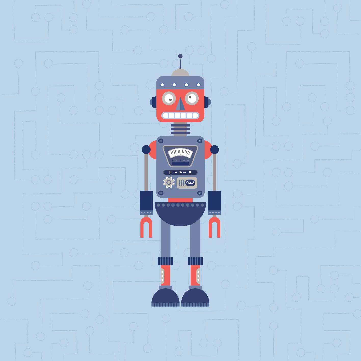 Lámina Robot Celeste