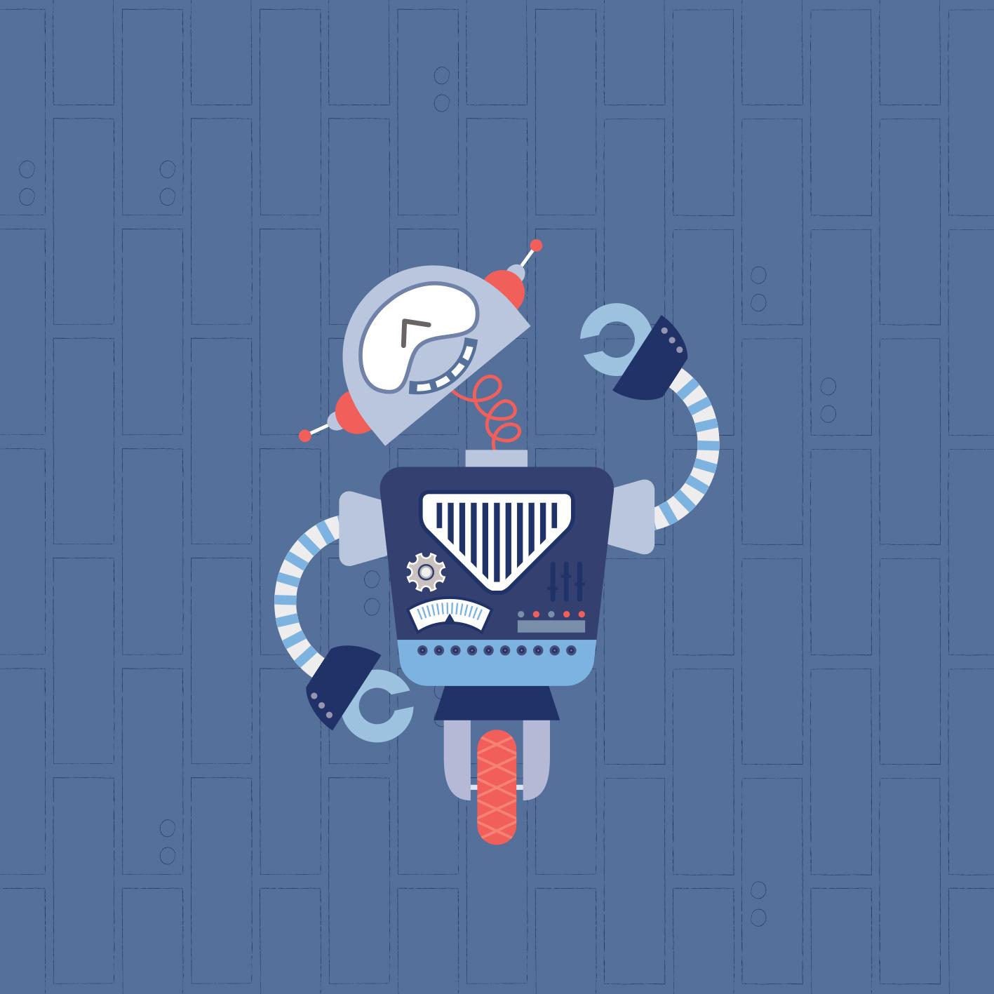 Lámina Pack Trío Robots