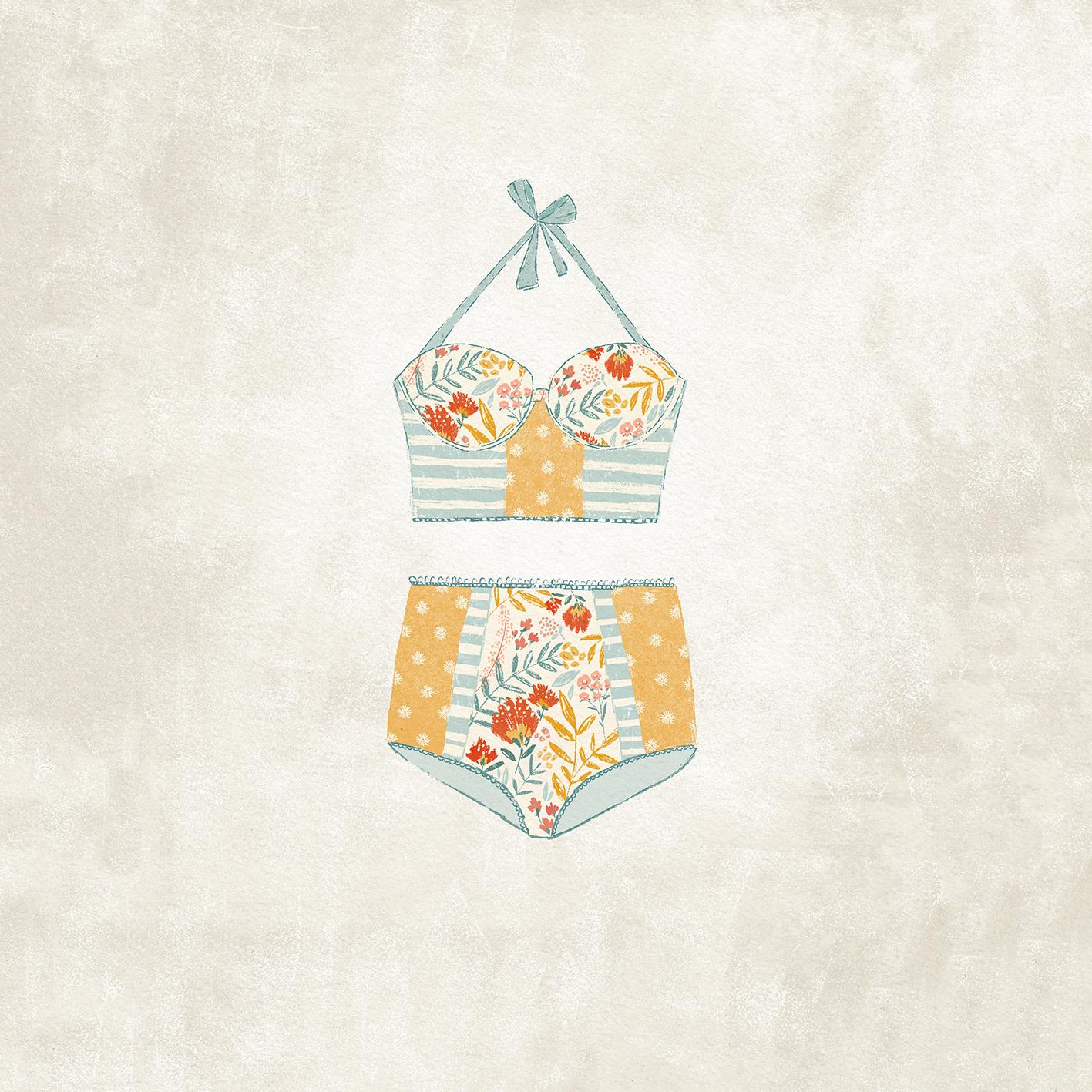 Cuadro Bikini Flores