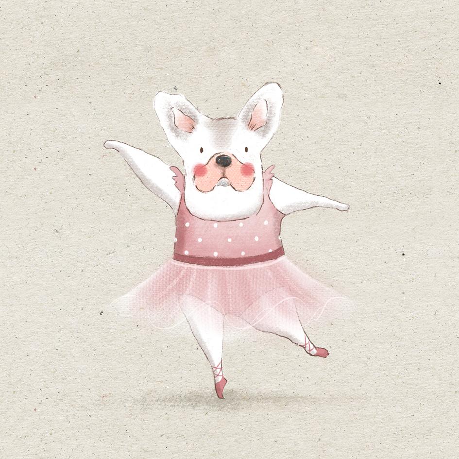 Cuadro Mona Bailarina Pose