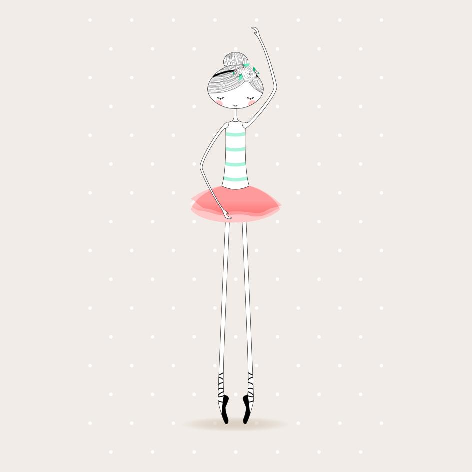 Lámina Bailarinas