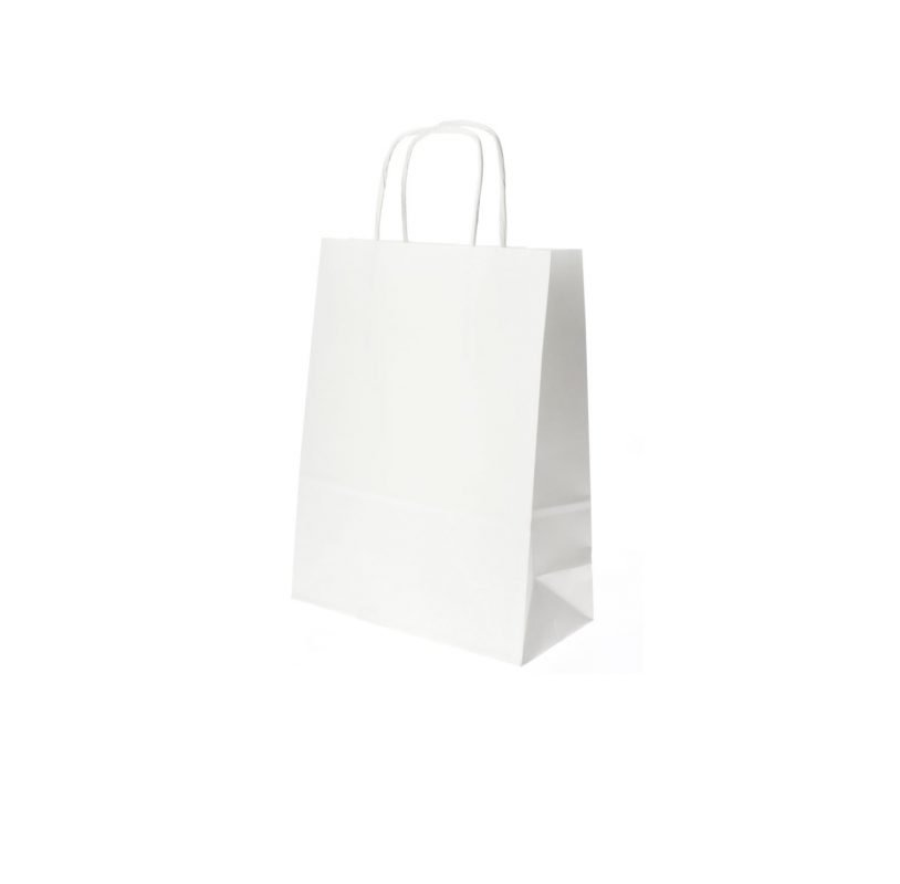 Bolsas de Papel Blanco - 14 x 20 x 8 CM 1X50 unidades