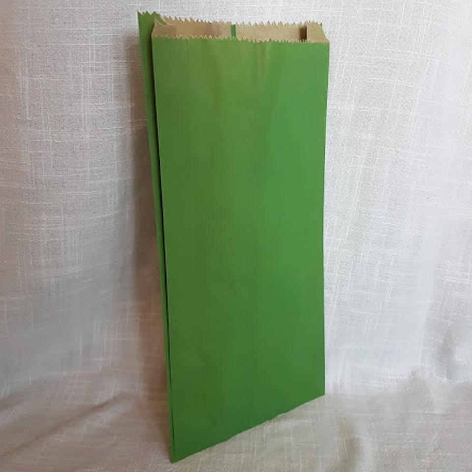 Sacos de Papel Color Verde C-0400 1X100 unidades