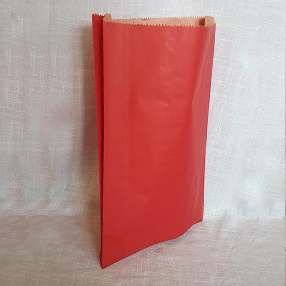 Sacos de Papel Color Rojo C-0800 1X100 unidades