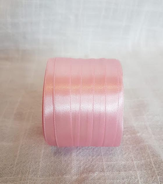 Cinta satin 1 faz 1 cm. ancho - Color Rosado