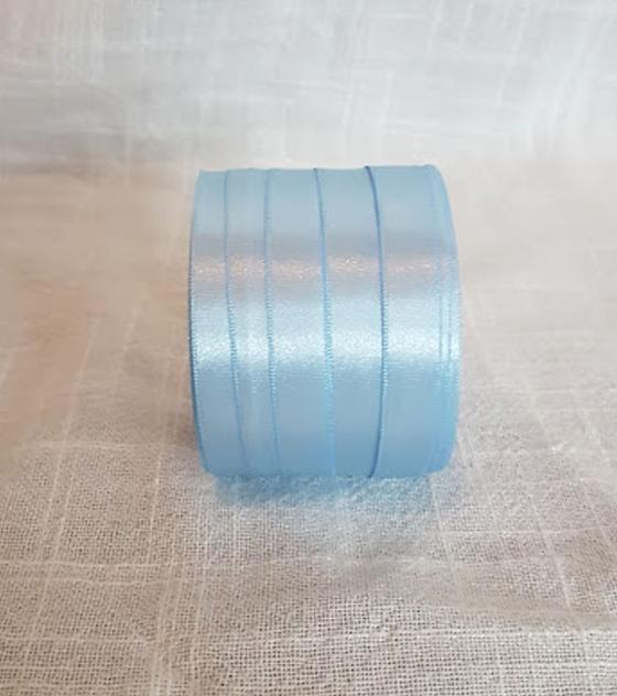 Cinta satin 1 faz 1 cm. ancho - Color Celeste