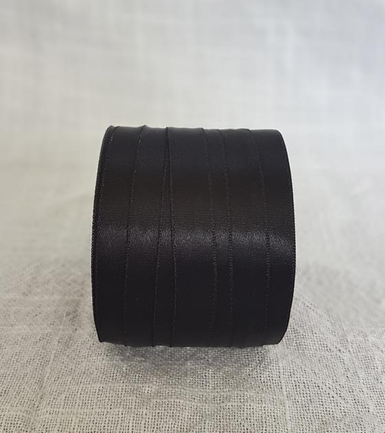Cinta satin 1 faz 1 cm. ancho - Color Negro