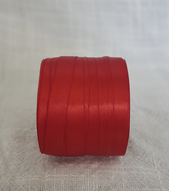 Cinta satin 1 faz 1 cm. ancho - Color Rojo