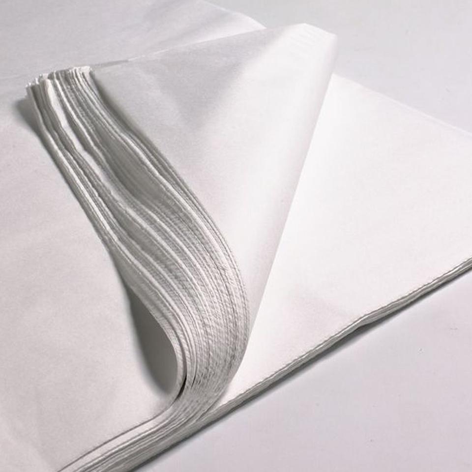 Papel Seda Blanco 250 pliegos 77 x 100 cms