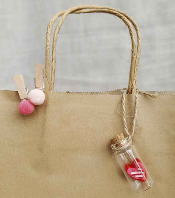 Pack frascos de vidrio con corazón