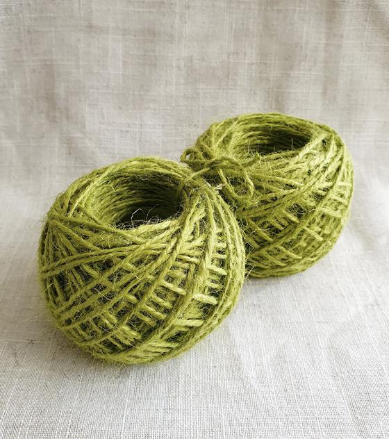 Pack de ovillos de Yute - Verde pistacho