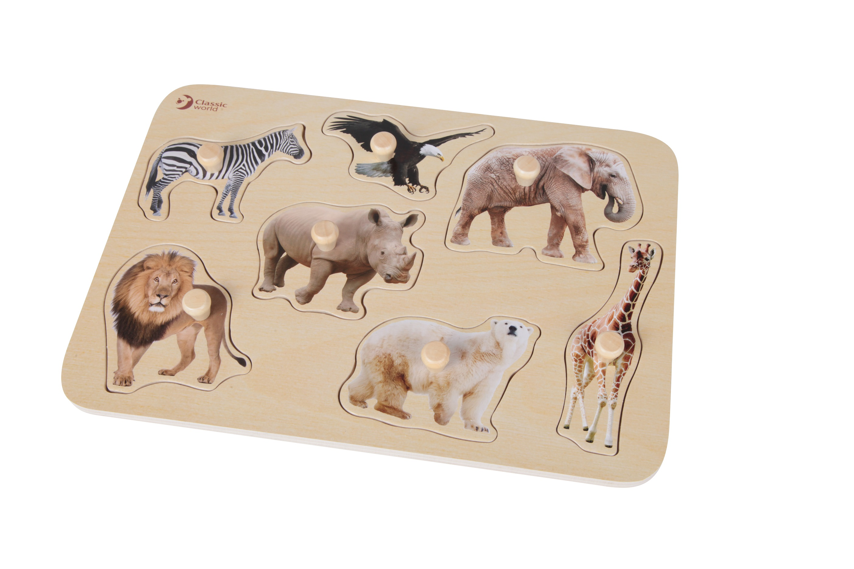 Encaje animales de la selva puzzle