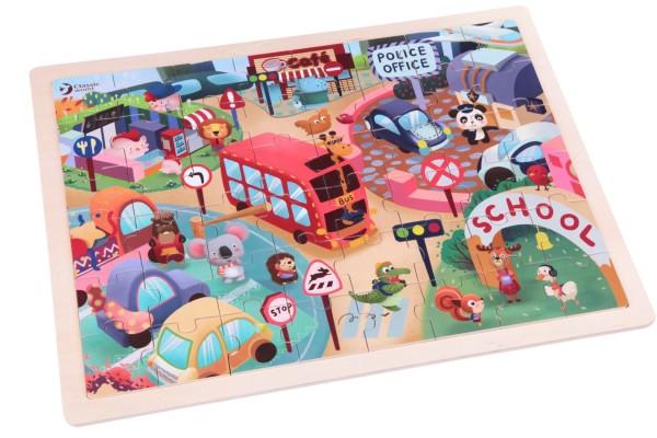 Puzzle Ciudad Animales