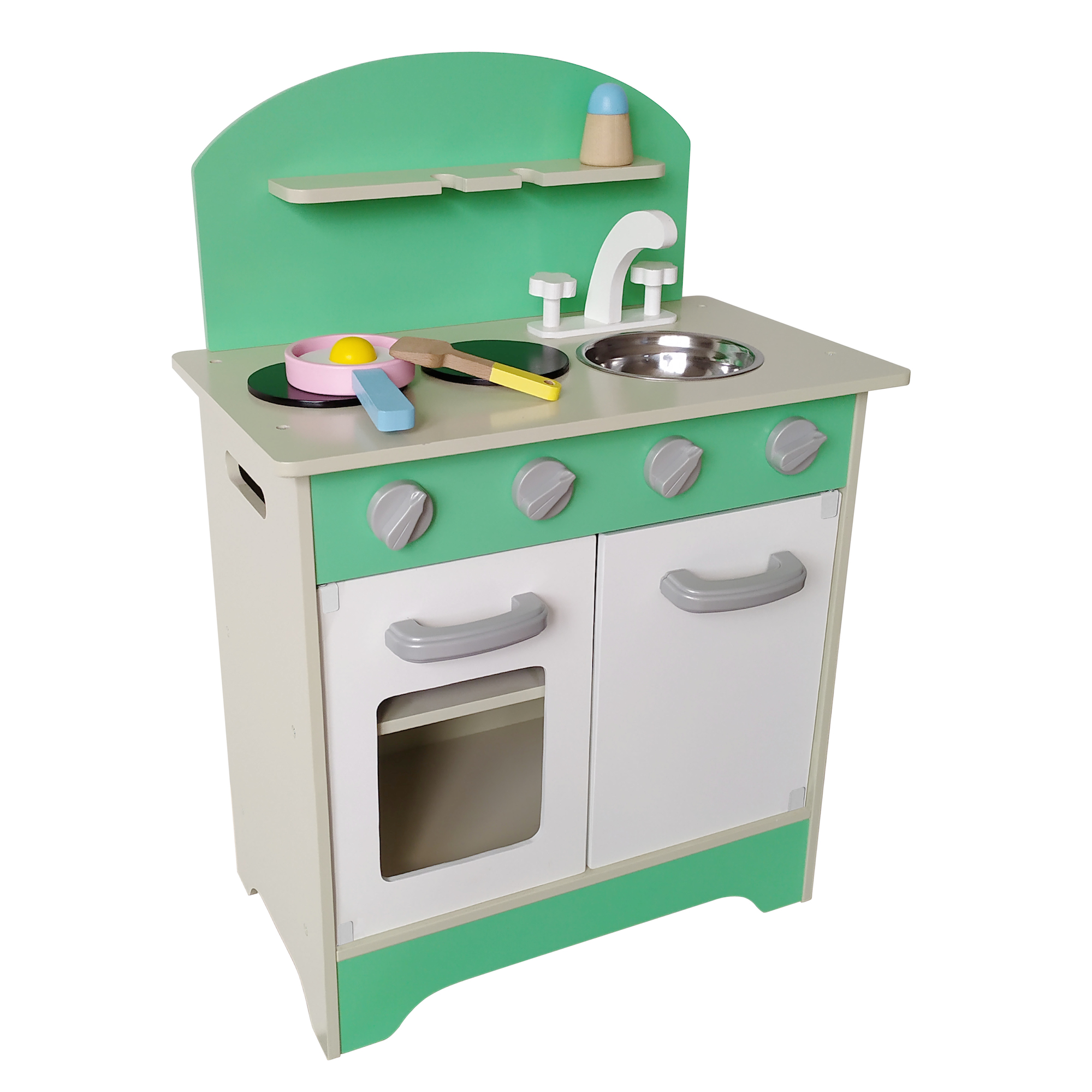 Cocina de Madera Verde - Gamepower - Juguetes de Madera