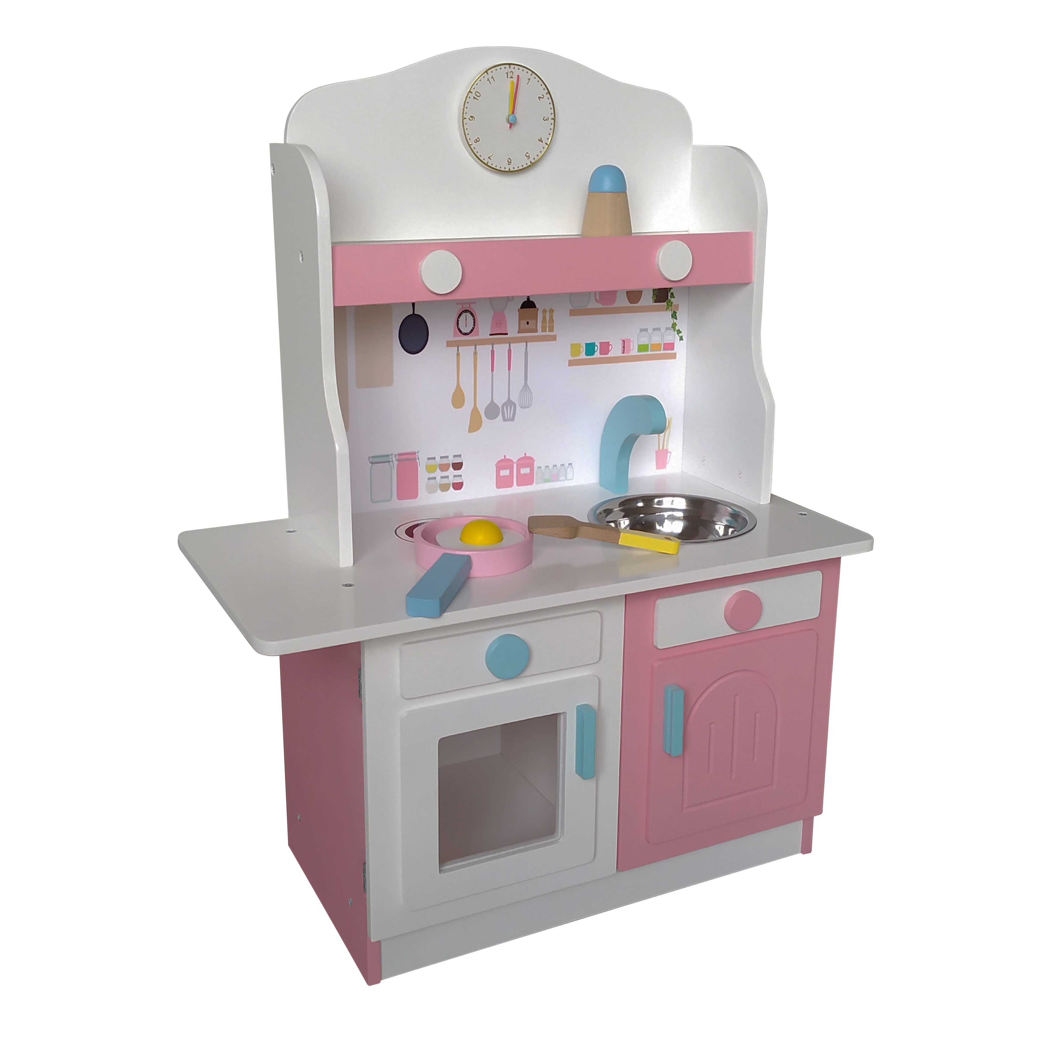 Cocina blanca con rosado - Gamepower - Juguetes de Madera