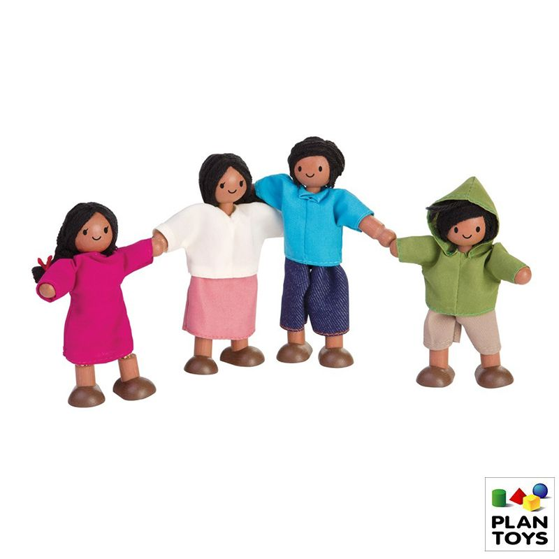 Set de muñecos - familia latina