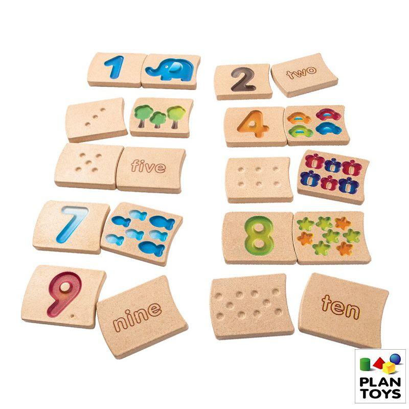 Juego números de madera del 1 a 10