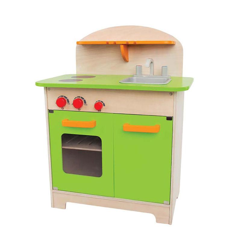 Cocina de madera verde