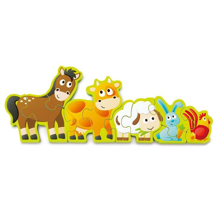 Puzzle - Animales de granja y numero