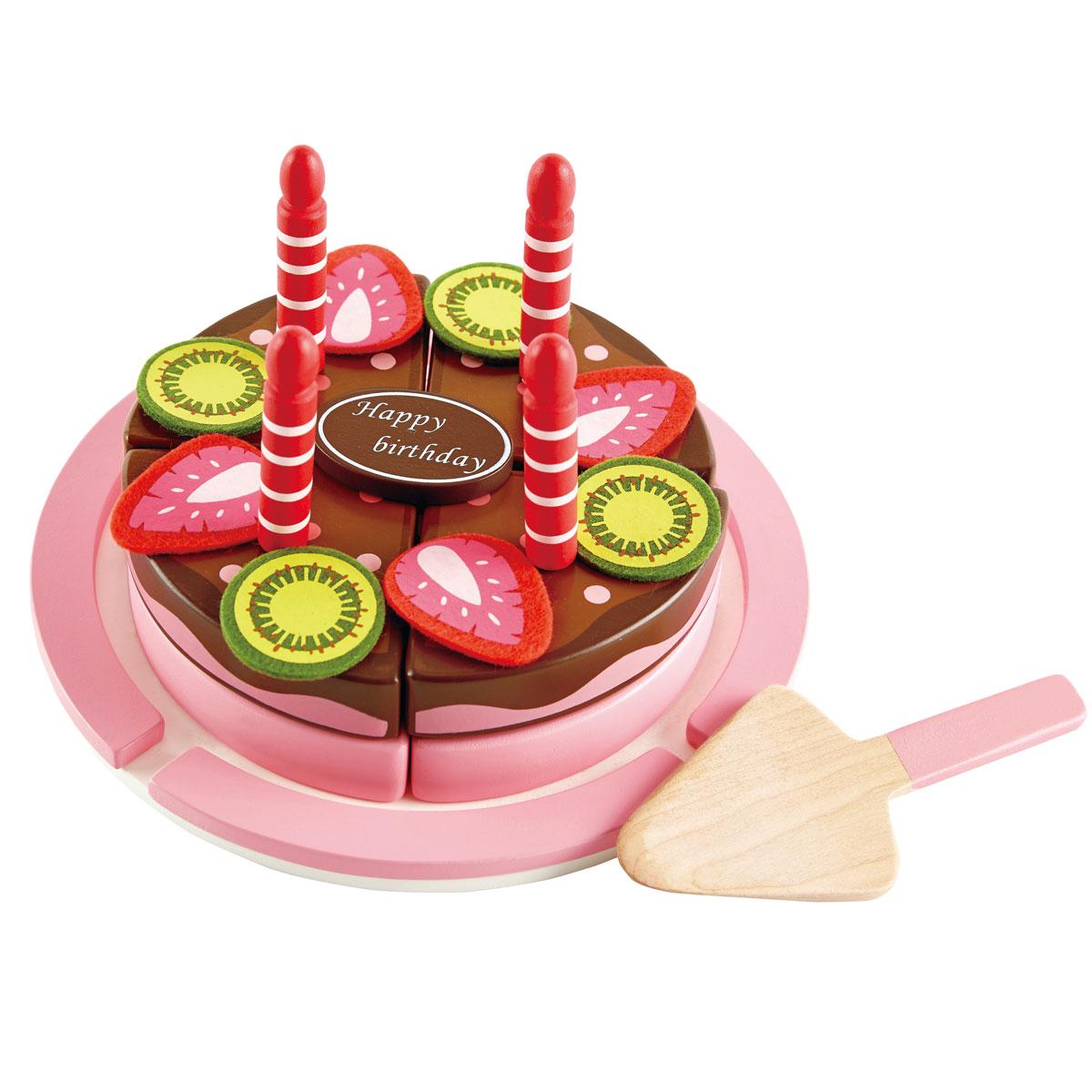Torta de frutas con velcro