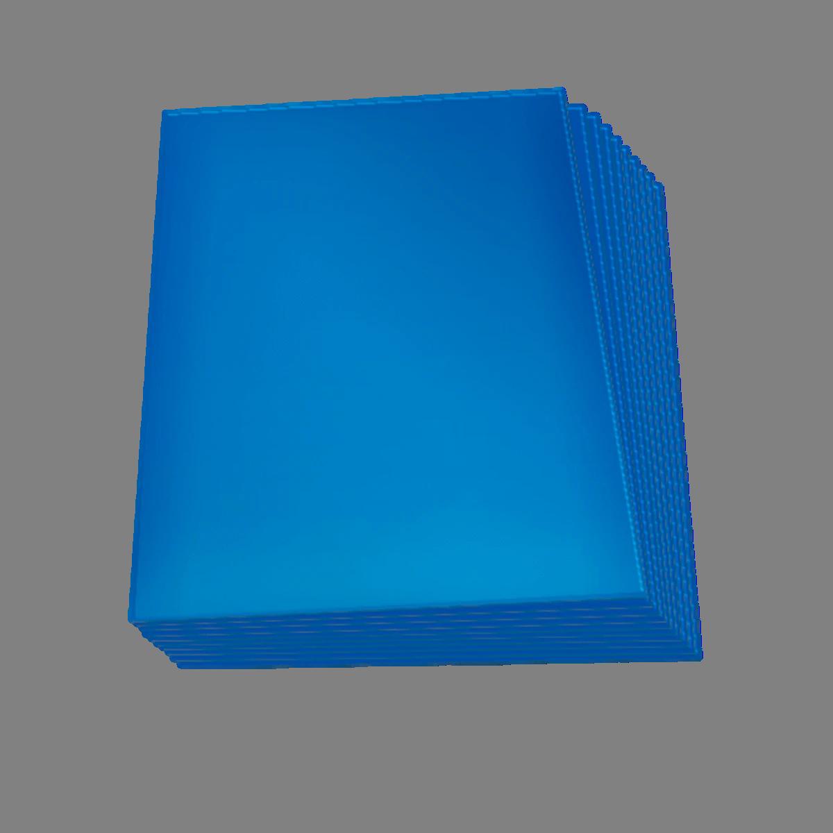 Set de 60 protectores Small Topdeck color azul