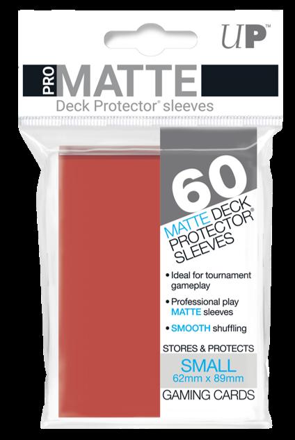 Set de 60 protectores Small Ultra Pro - rojo