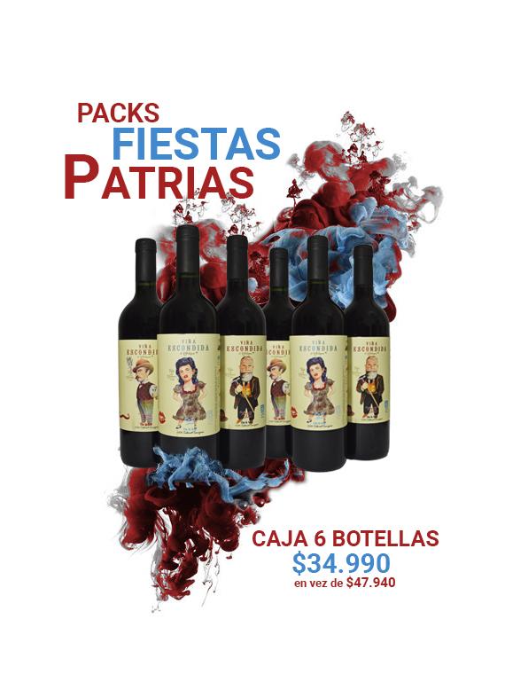 Caja de 6 botellas de la Viña Escondida