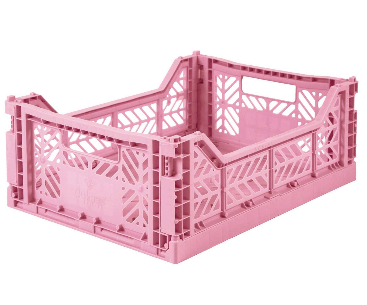 Caixa Dobrável Média - Baby Pink