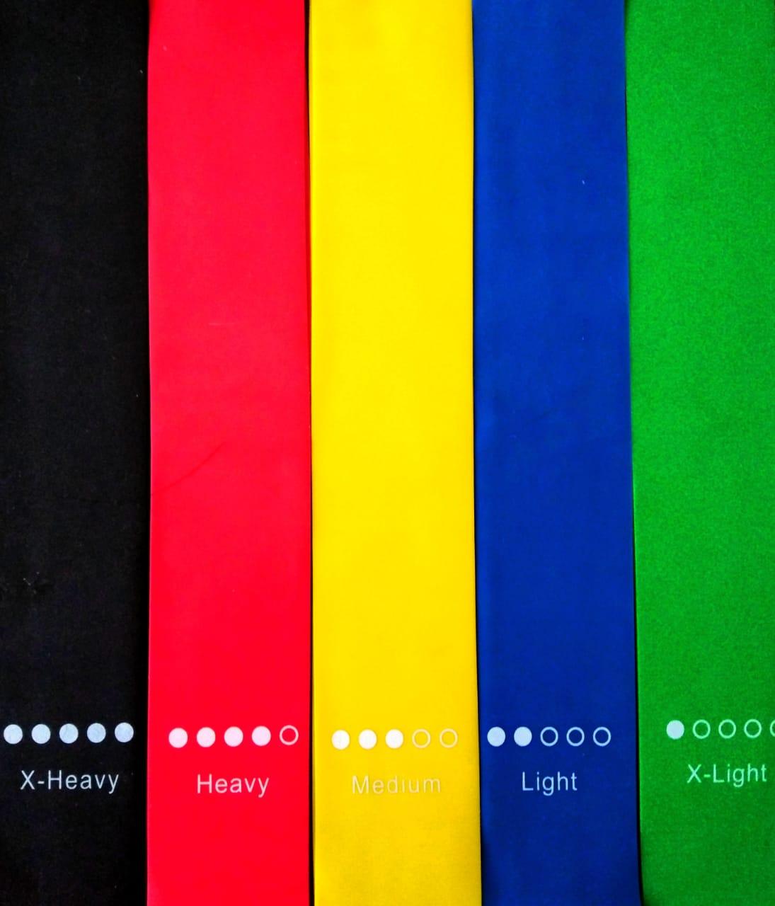 Bandas elasticas juego x5 unidades