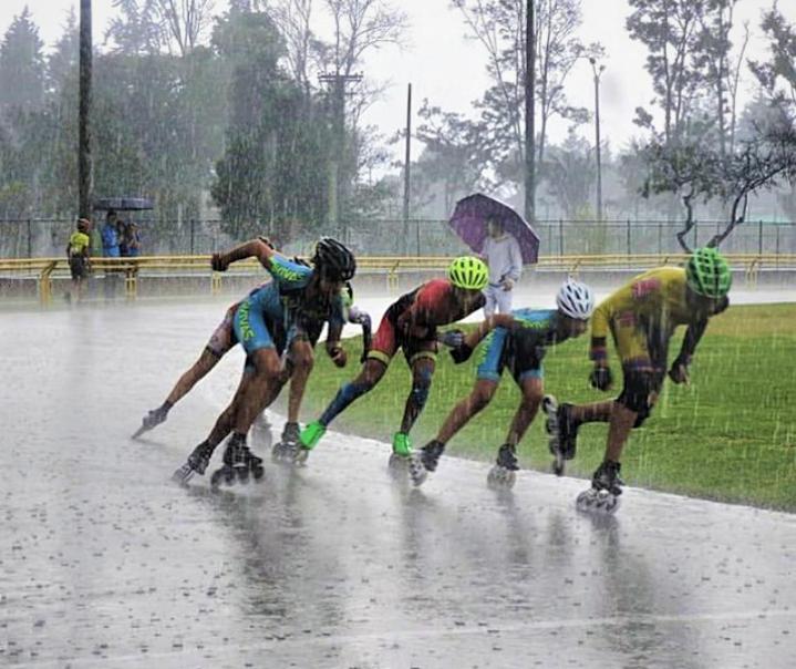 Entrenamiento de patinaje para días de lluvia