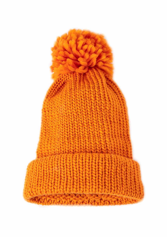 Little Badger Yellow Beanie - Handmade with 100% Wool