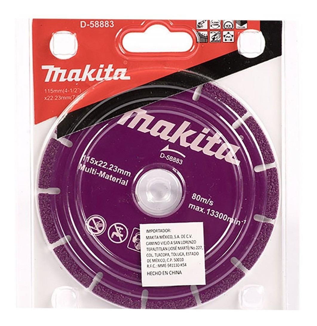 Disco Diamantado 115x22.23mm Seg. P/ Horm.Arm / Multimaterial Makita