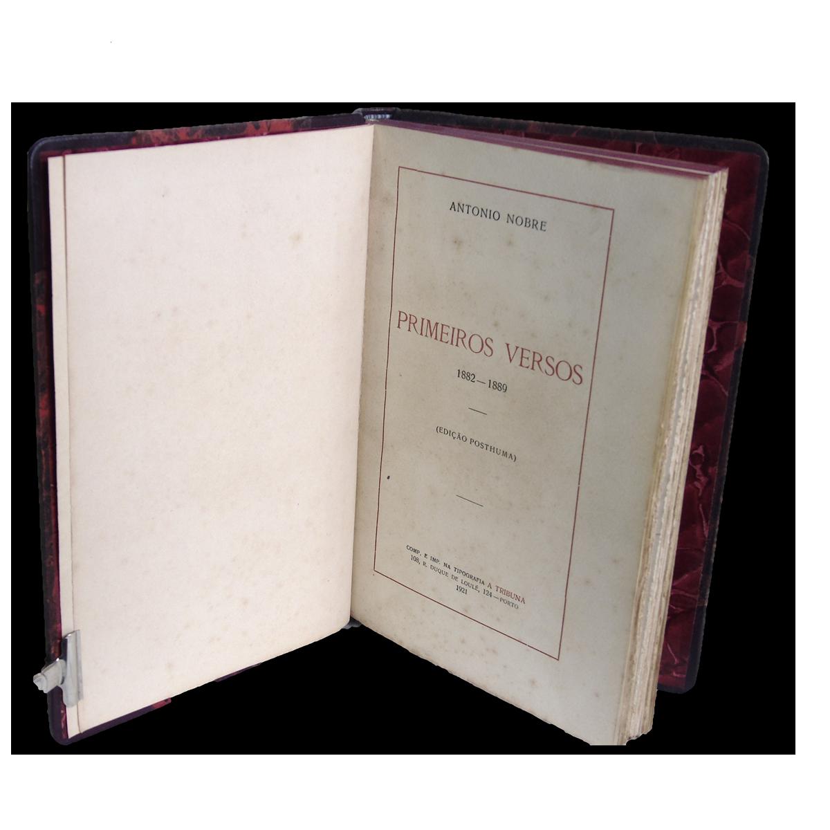 António Nobre -  Primeiros Versos: 1882-1889.
