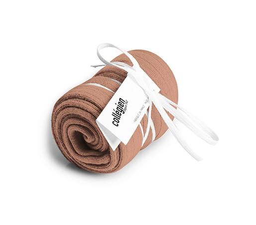 High knee sock, rosewood