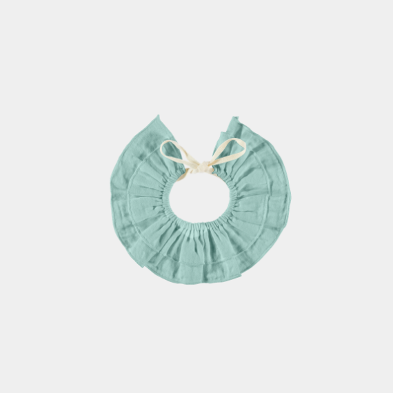 Double ruffle collar, sage