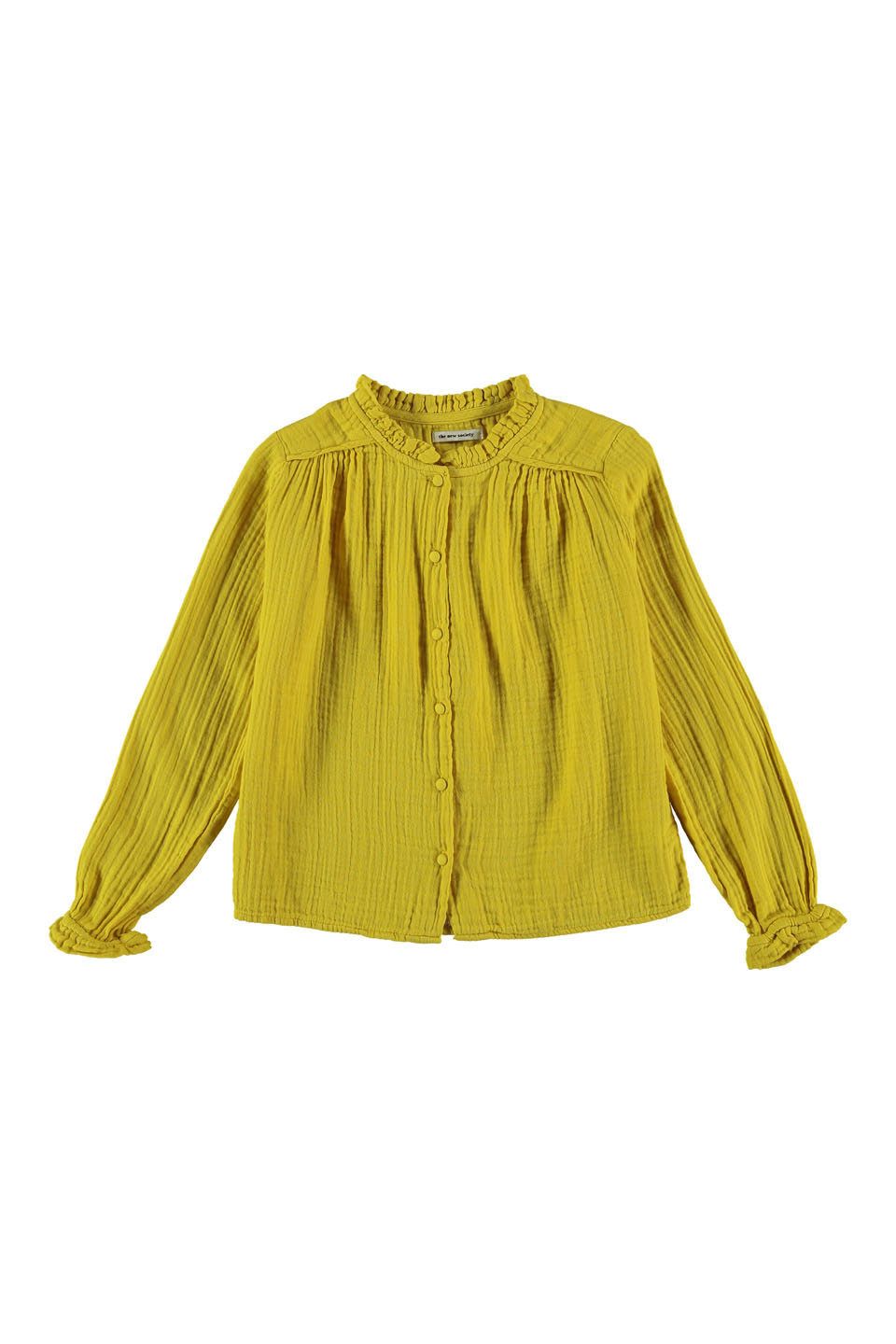 Lúa Winter Bambula Blouse, yellow, 4Y/8Y/10Y