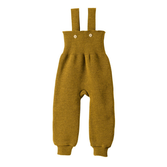 Merino Knitted Trousers, Gold