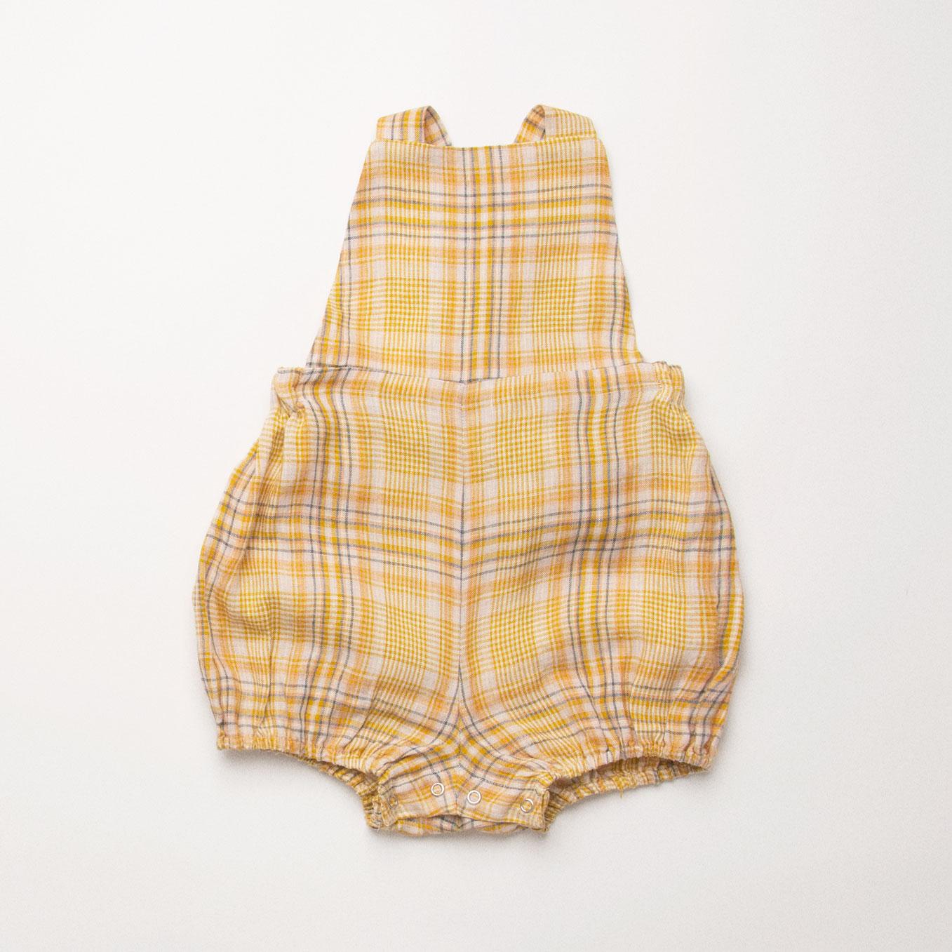 Sale Nellie Quats, Jump Roper Romper - Hay Plaid Linen