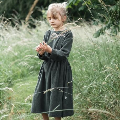 Vestido Muguet en felpa, Forest Green