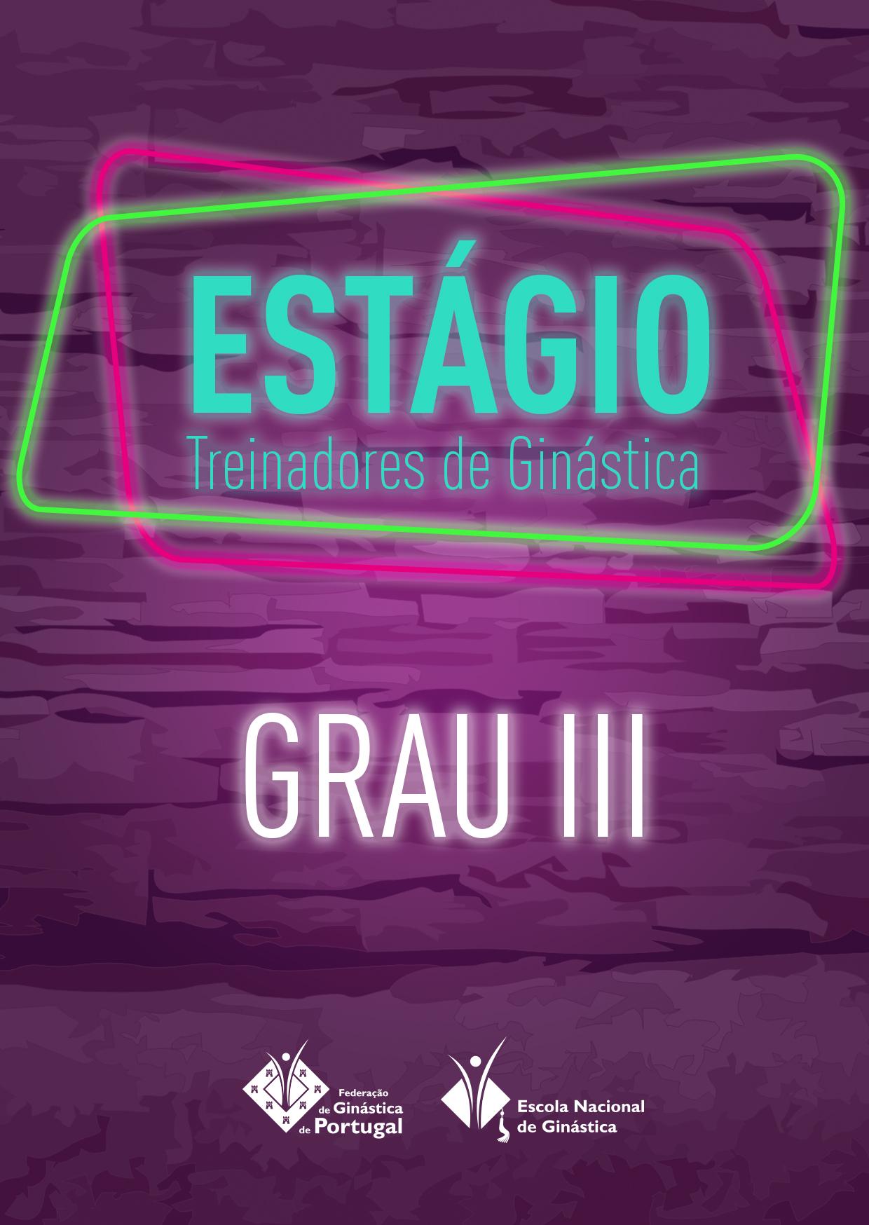 ESTÁGIO TREINADOR - Grau III