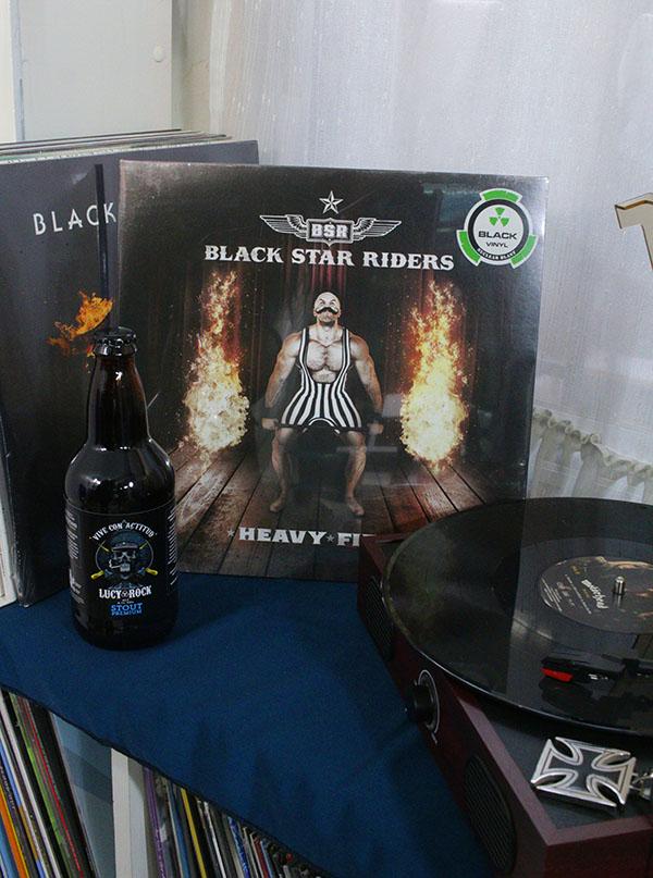 BLACK STARS RIDERS HEAVY FIRE BLACK VINYL