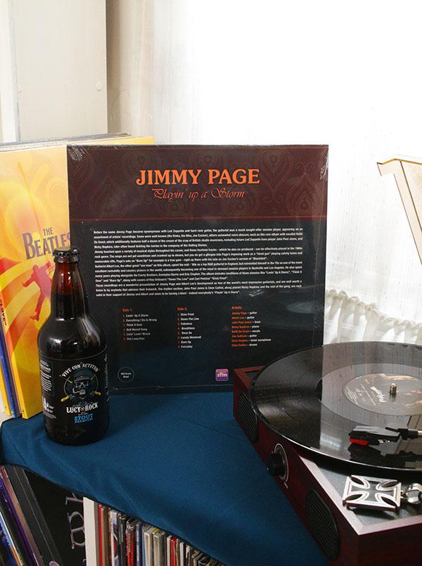 VINILO JIMMY PAGE PLAYIN UP A STORM
