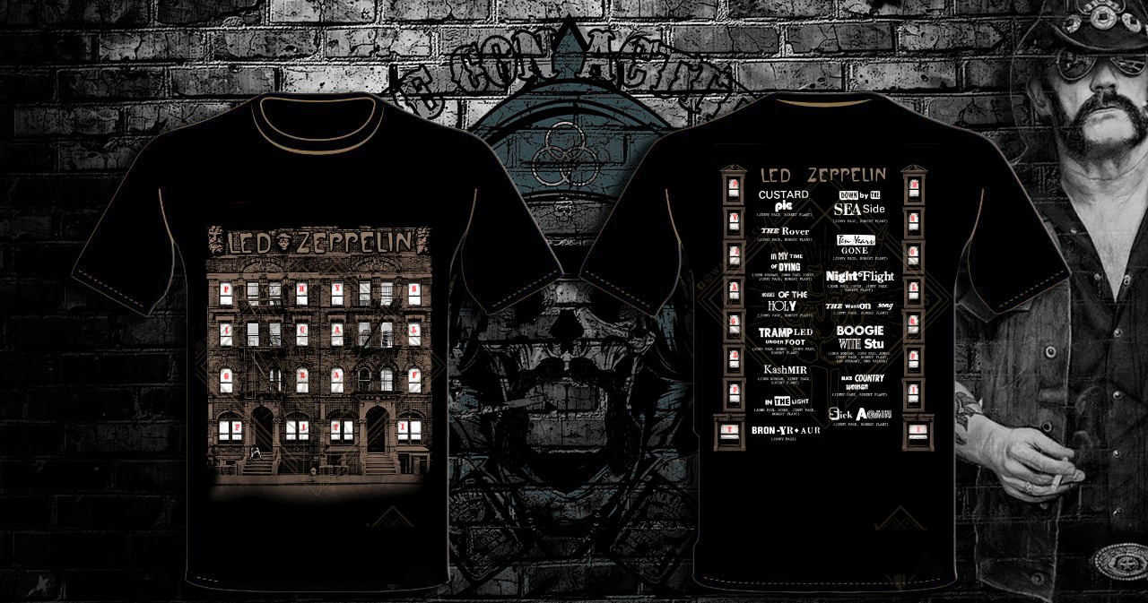 POLERA LED ZEPPELIN BUILDING
