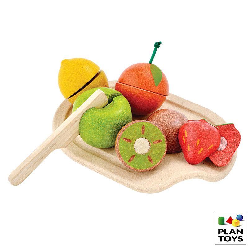 FRUTAS PARA CORTAR PLANTOYS + TABLA