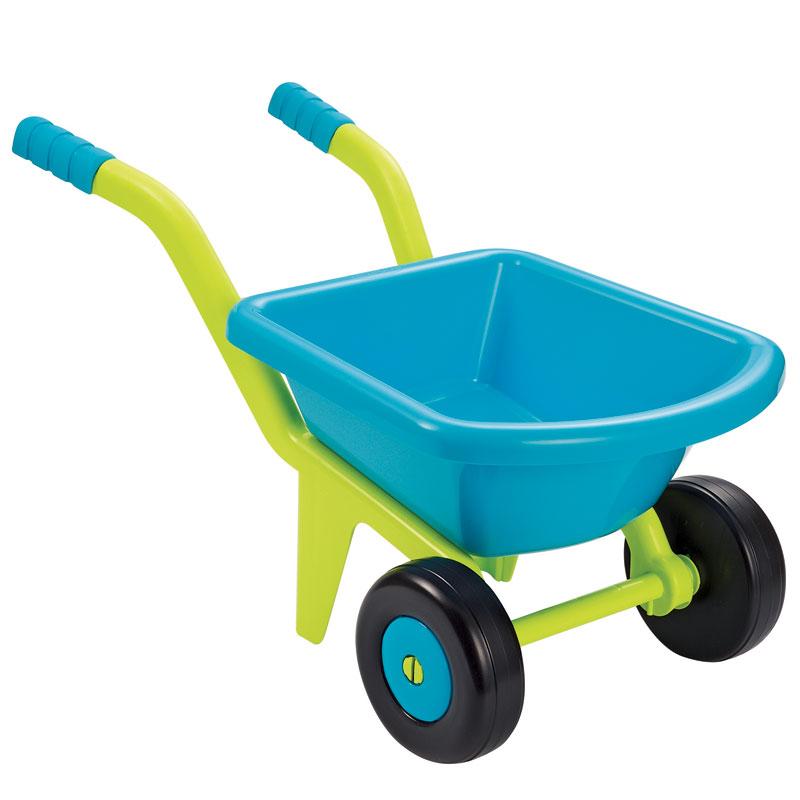 Carretilla plástica turquesa 2 ruedas