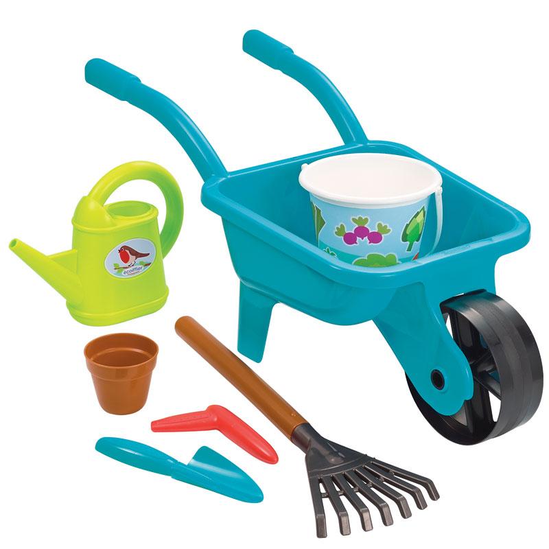 Carretilla y herramientas para jardinear 7pz