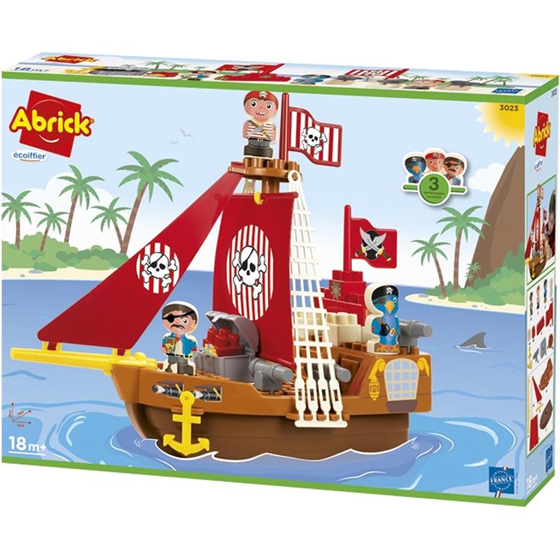 Abrick, Barco pirata con accesorios 5pz