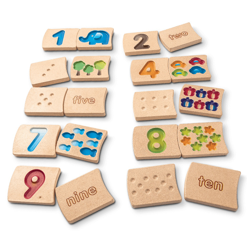 Juego números de madera 1 al 10